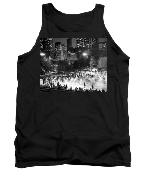 New York City - Skating Rink - Monochrome Tank Top