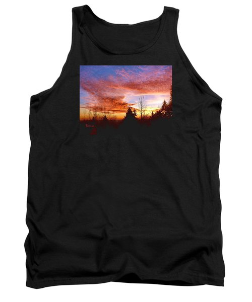 Tank Top featuring the photograph Skies Ablaze by Sadie Reneau