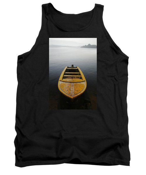 Tank Top featuring the photograph Skc 0042 Calmness Anchored by Sunil Kapadia