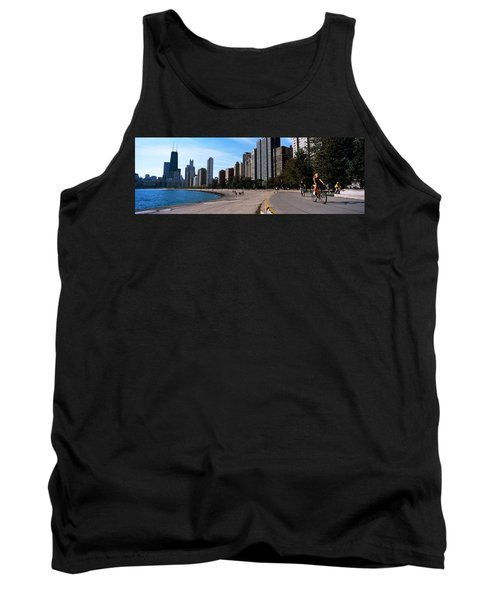 Skyscrapers At The Waterfront, Oak Tank Top