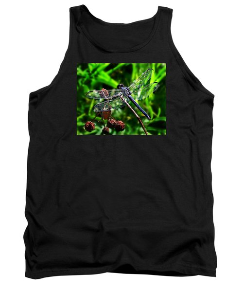 Slaty Skimmer Dragonfly Tank Top by William Tanneberger