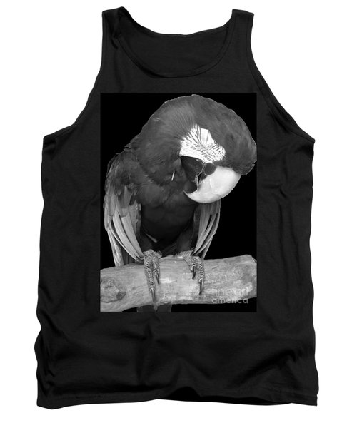 Sleepy Bird  There Is A Nap For That B And W Tank Top by Barbie Corbett-Newmin