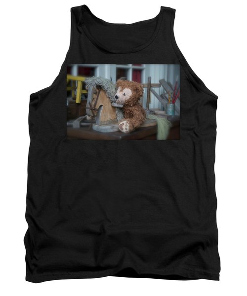 Tank Top featuring the photograph Sleepy Cowboy Bear by Thomas Woolworth