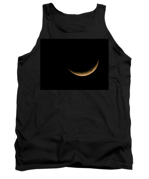 Tank Top featuring the photograph Slender Waxing Crescent Moon by Katie Wing Vigil