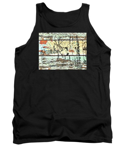 His First Horse  Tank Top by Larry Campbell