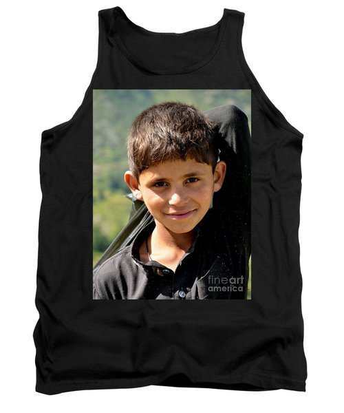 Smiling Boy In The Swat Valley - Pakistan Tank Top