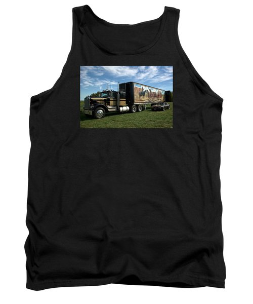 Smokey And The Bandit Tribute 1973 Kenworth W900 Black And Gold Semi Truck Tank Top