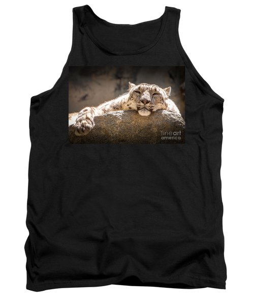 Snow Leopard Relaxing Tank Top