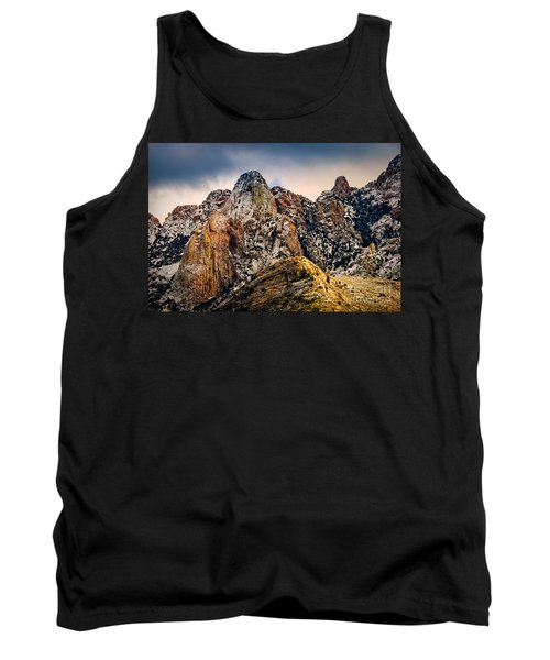 Tank Top featuring the photograph Snow On Peaks 45 by Mark Myhaver