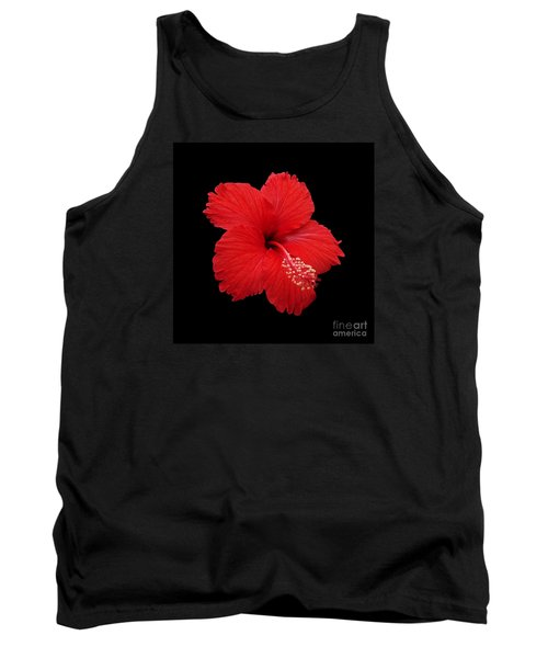 Tank Top featuring the photograph Snowflake Hibiscus by Judy Whitton