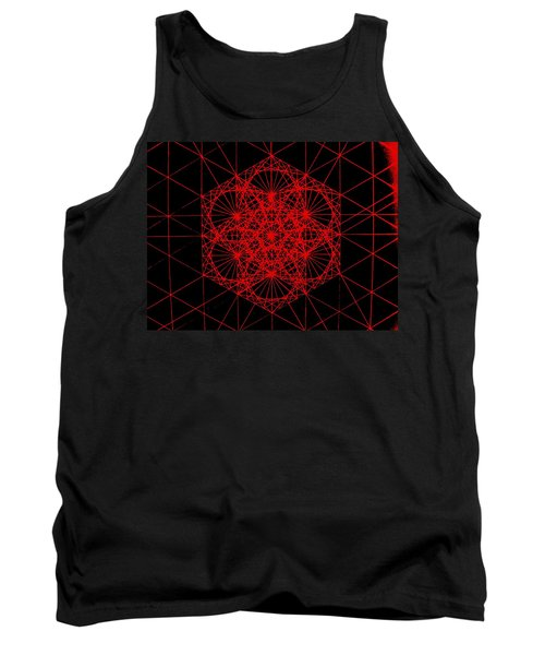 Snowflake Shape Comes From Frequency And Mass Tank Top