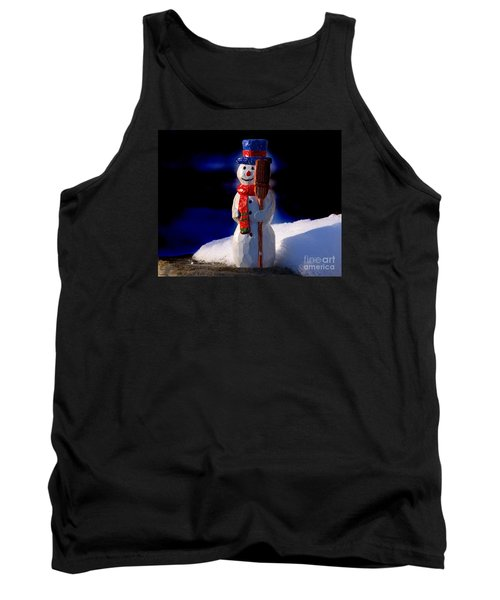 Snowman By George Wood Tank Top
