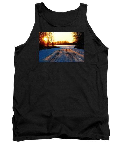 Tank Top featuring the photograph Snowy Anchorage Sunset by Cynthia Lagoudakis
