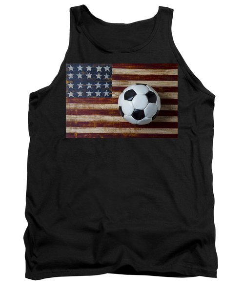 Soccer Ball And Stars And Stripes Tank Top