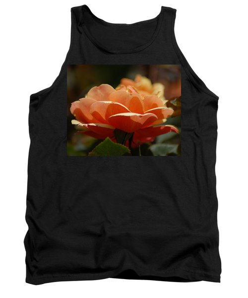 Soft Orange Flower Tank Top by Matt Harang