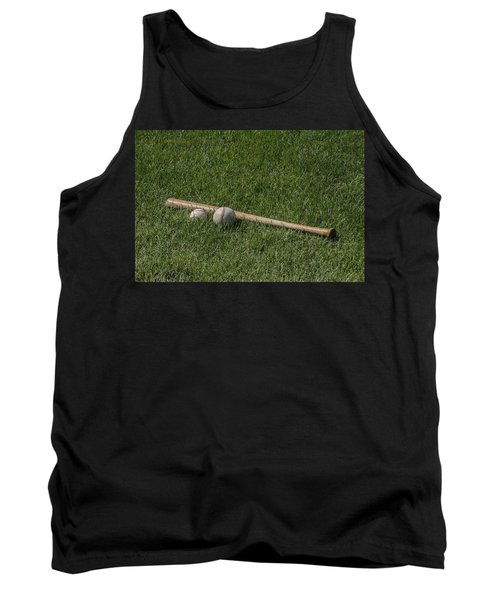 Softball Baseball And Bat Tank Top
