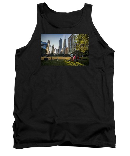 Softball By Skyscrapers Tank Top