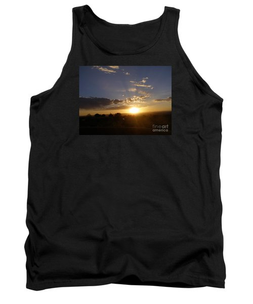 Solar Eclipse Sunset Tank Top