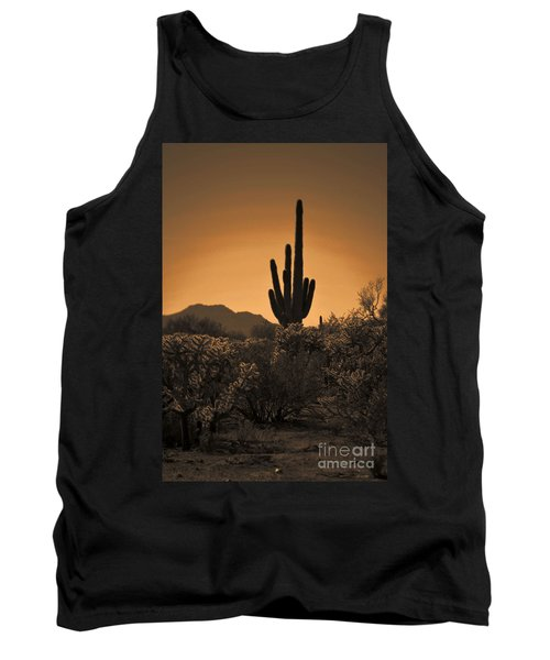 Solitary Saguaro Tank Top