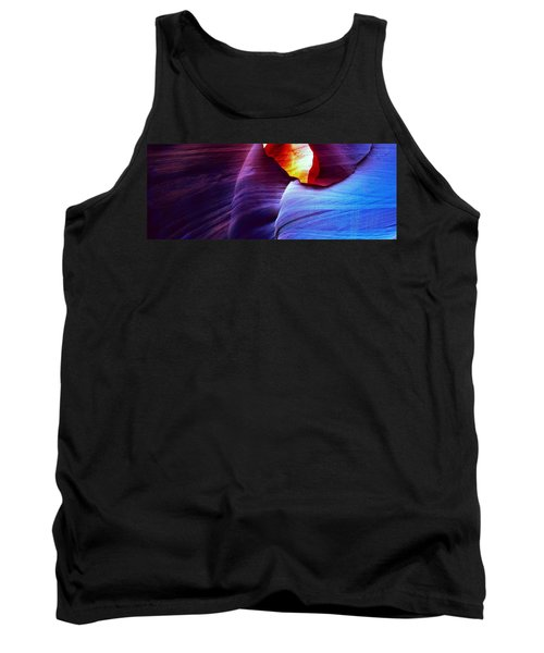 Tank Top featuring the photograph Somewhere In America Series - Blue In Antelope Canyon by Lilia D
