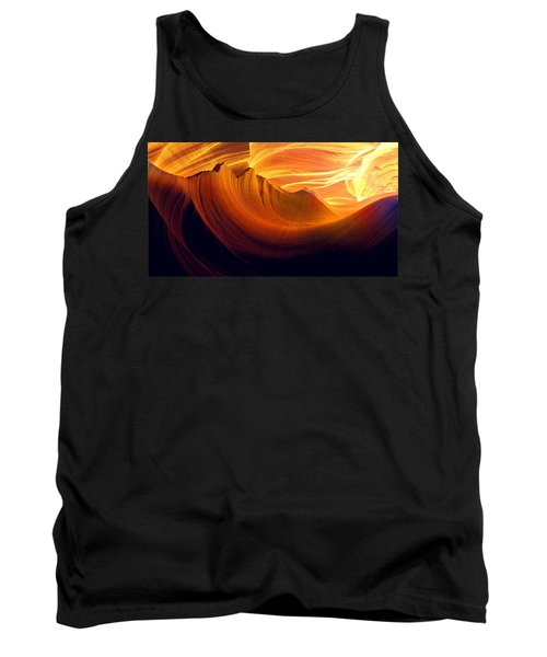 Tank Top featuring the photograph Somewhere In America Series - Golden Yellow Light In Antelope Canyon by Lilia D