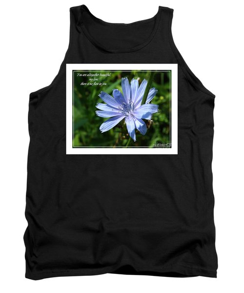 Song Of Solomon 4 Verse 7 Tank Top by Sara  Raber