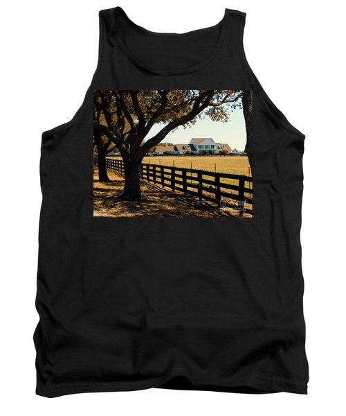 Southfork Ranch - Across The Pasture Tank Top by Robert ONeil