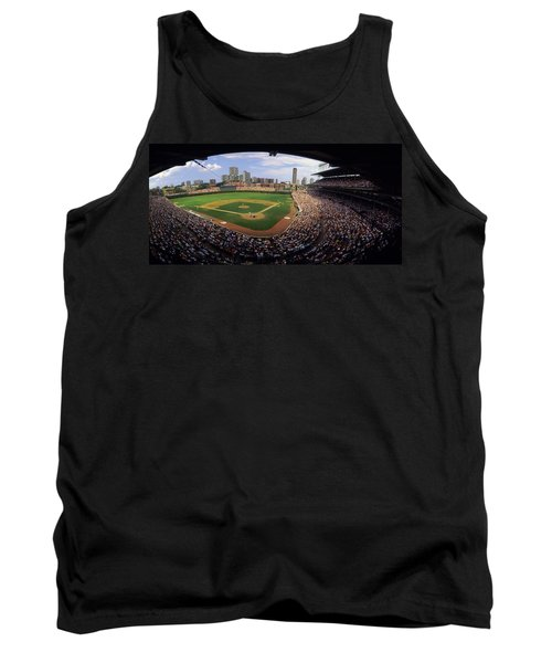 Spectators In A Stadium, Wrigley Field Tank Top by Panoramic Images