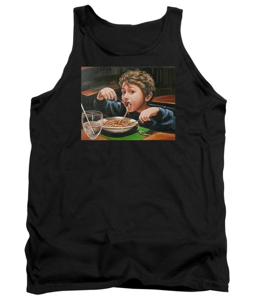 Tank Top featuring the painting Spaghetti Boy by Melinda Saminski