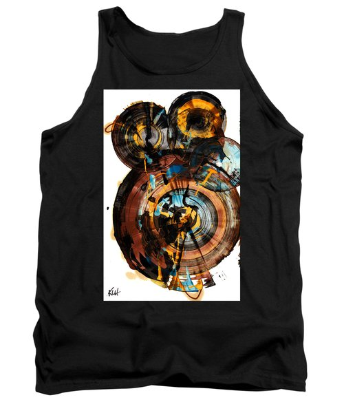 Tank Top featuring the painting Spherical Happiness Series - 994.042212 by Kris Haas