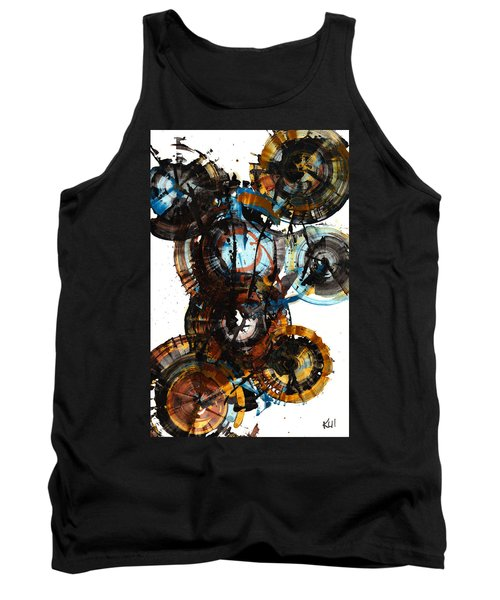 Tank Top featuring the painting Spherical Joy Series - 995.042212 by Kris Haas