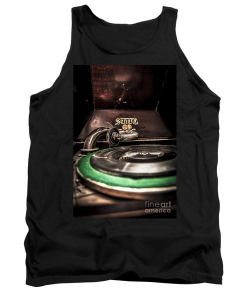 Spin That Record Tank Top by Darcy Michaelchuk