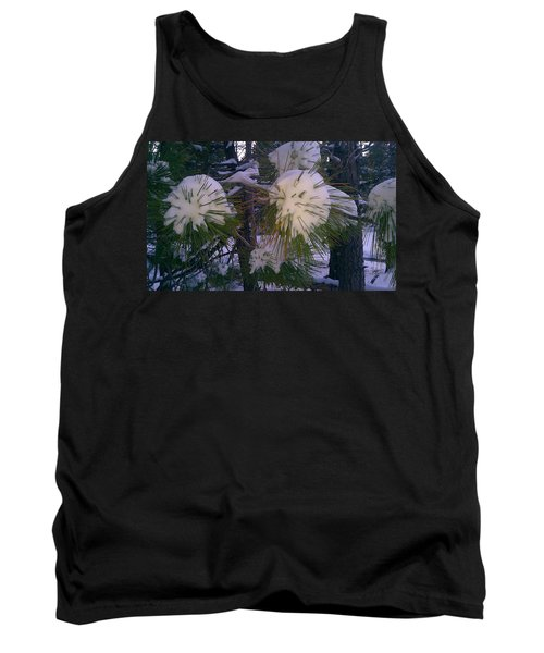 Tank Top featuring the photograph Spiny Snow Balls by Chris Tarpening