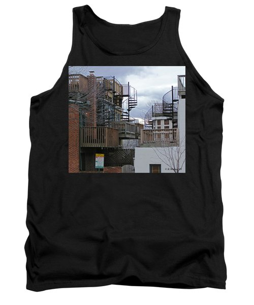 Tank Top featuring the photograph Spiral Stairs by Brian Wallace