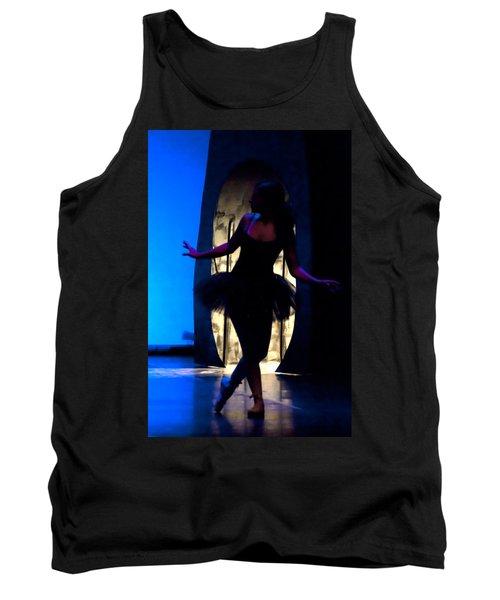 Spirit Of Dance 3 - A Backlighting Of A Ballet Dancer Tank Top