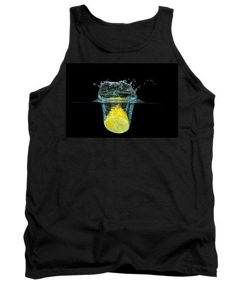 Splashing Lemon Tank Top by Peter Lakomy