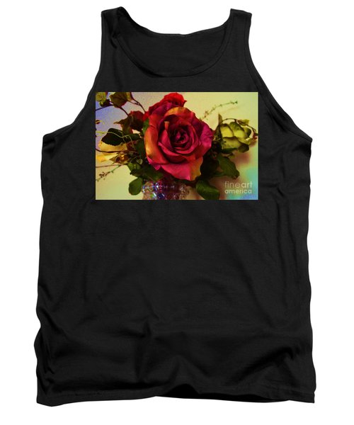 Splendid Painted Rose Tank Top by Luther Fine Art