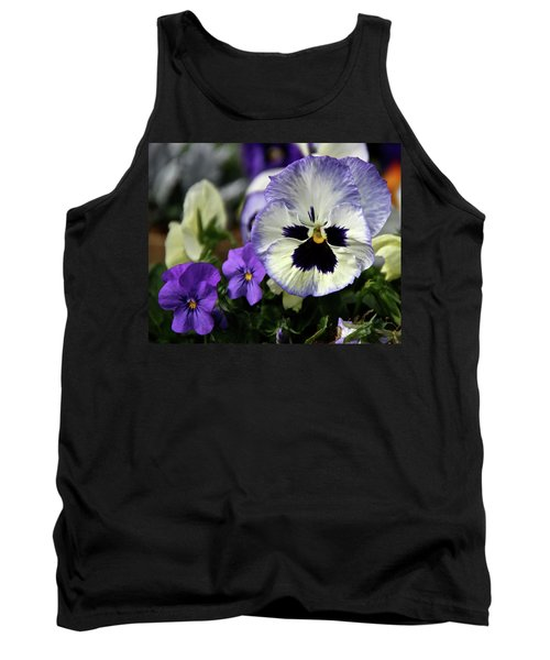 Spring Pansy Flower Tank Top by Ed  Riche
