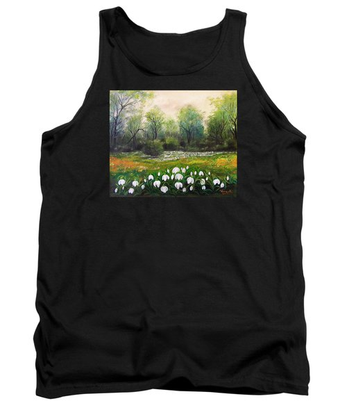 Tank Top featuring the painting Spring by Vesna Martinjak