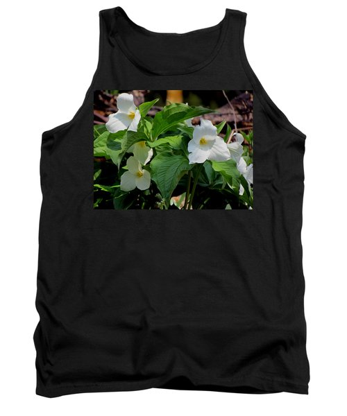 Springtime Trillium Tank Top by David T Wilkinson