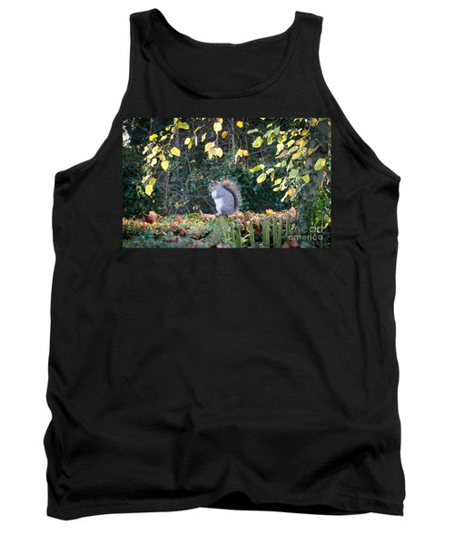 Tank Top featuring the photograph Squirrel Perched by Matt Malloy