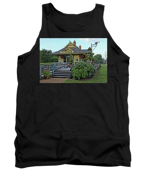 St Charles Station On The Katty Trail Look West Dsc00849 Tank Top