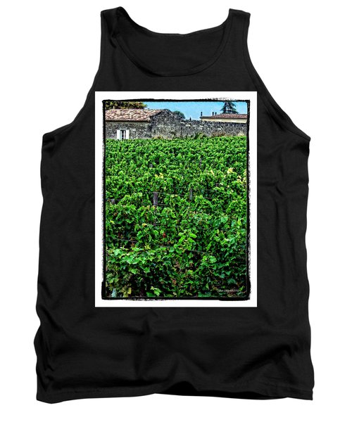 Tank Top featuring the photograph St. Emilion Winery by Joan  Minchak