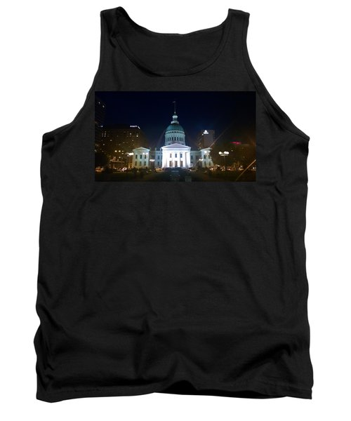 Tank Top featuring the photograph St. Louis At Night by Chris Tarpening