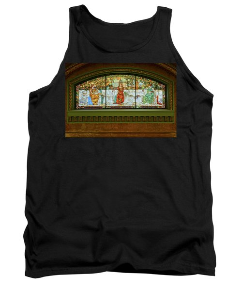St Louis Union Station Allegorical Window Tank Top by Greg Kluempers