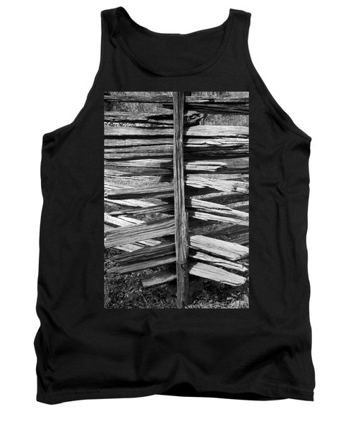 Tank Top featuring the photograph Stacked Fence by Lynn Palmer