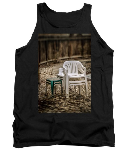 Stacked Plastic Chairs Tank Top