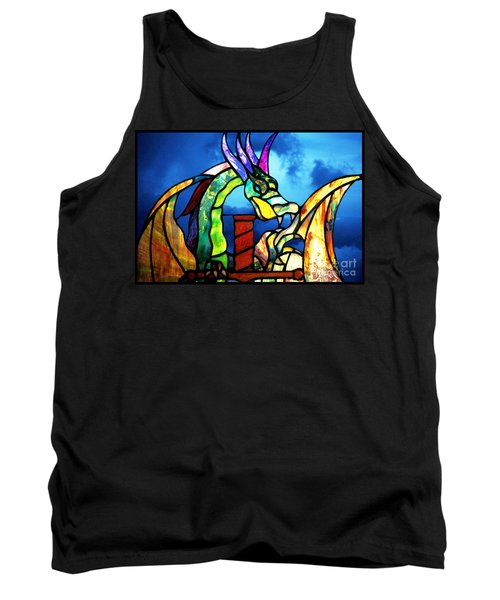 Stained Glass Dragon Tank Top