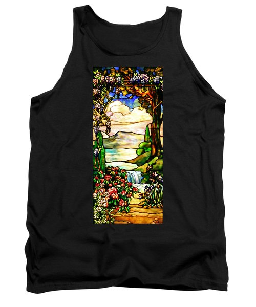 Stained Glass No Border Tank Top by Kristin Elmquist