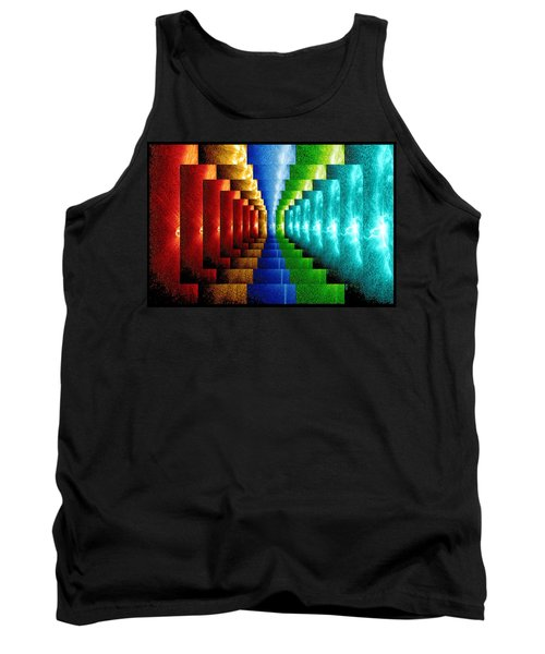 Tank Top featuring the digital art Stairsteps by Paula Ayers